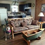 Sunset at Agate Beach.... Cabin nine living room/kitchen area, has two bedrooms