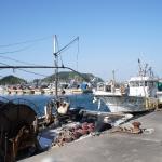 答志島の漁港
