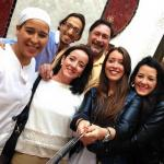 Con amigos del Riad