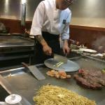 Our chef at work on the Hibachi?