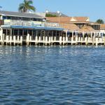 A view of Snook Inn as we bid adieu to Marco Island Marina