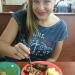 Lizzie luvs her breakfast