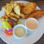 Pub style fish and chips
