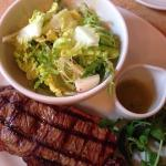 Delicious steak, cooked as we requested at Cafe Rouge, Gerrards Cross