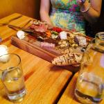 The charcuterie as an entree.