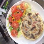 Ham and mushroom omelette :)