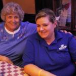 Our waitress, Tara, on the right.