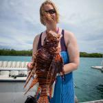 With a lion fish that one of the dive masters speared