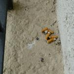 Cigaret butts on wall between our balcony and next balcony, never cleaned during our stay.