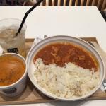 濃蝦湯配咖哩飯