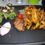 piece du boucher/ frites