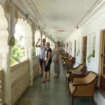 veranda outside the rooms