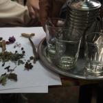 Driking royal tea in a herbalist's shop