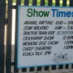 Show times