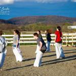 Sack races at the 2015 Open Farm & Barn
