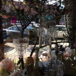 Inside the gift shop front window.