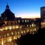 Sunset over Regent Street, view from rooftop bar