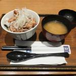 塩麹漬け豚丼、豚汁