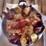 Orzo mixed seafood. One of the best greek good I've tried. Paying less for a great dining experi