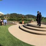 Wedding ceremony at Holman Ranch