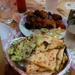Cheese naan & chicken tanduri