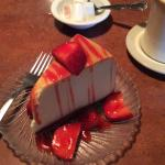 Their strawerry cheescake -- a rare treat for me. Perfect with their coffee to finish out a grea