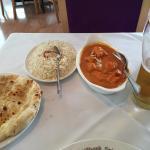 Chicken Tikka Masala and Garlic Naan! Delicious!