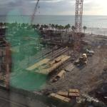 Construction work outside hotel