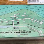 Accurate Camp Site Map of Millace Campground at Foster Falls