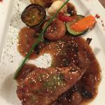 plat : cuisse de lapin et légumes