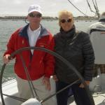 Lanny and I at the helm