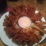 Bloomin' Onion - a little over spiced and greasy