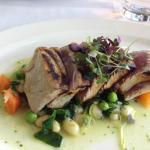 Tuna done rare and right
