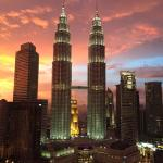 Stunning sunset over the Petronas Towers