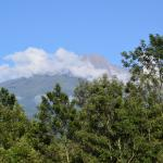 View of Mount Meru from Twiga Lodge