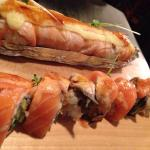 Lion King roll (top) is baked, Tiger roll (bottom) - both are popular and for good reason, delic