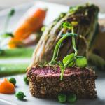 Slow Roasted Lamb with a Minted Herb crust