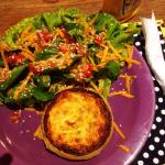 Quiche with salad!!