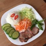 BBQ pork with steam rice