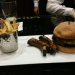 Truffle fries, smoked ribs and brisket burger