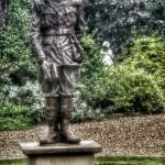 Statue of Rupert Brooke etc. Grantchester