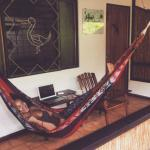 My cabina had wifi, a hammock, beautiful porch, and relaxing vibes