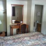 Room 37 Desk & Bathroom