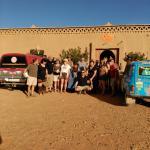 Dunas detrás del albergue hotel Porte de Sahara, una preciosidad y un hotel maravilloso