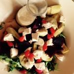 Super Salade with Goats Cheese
