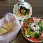 Salad, Pita and Gyro