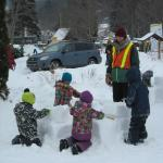 Children Sculpting Snow at Festi-Volant