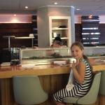 Sitting up at the sushi bar