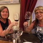 Ann & Debbie 9/5/15 (careful of the large glasses, very deceiving