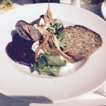 Salad with beetroot & goat cheese mousse - decent, but wouldn't come back especially for this